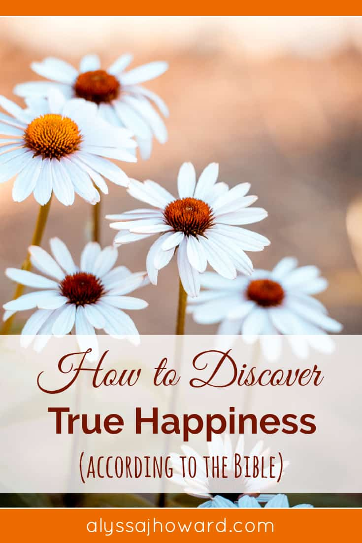 How to Discover True Happiness (according to the Bible) | alyssajhoward.com