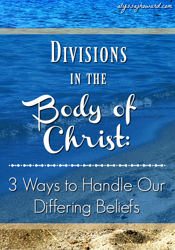 Divisions in the Body of Christ: 3 Ways to Handle Our Differing Beliefs | alyssajhoward.com