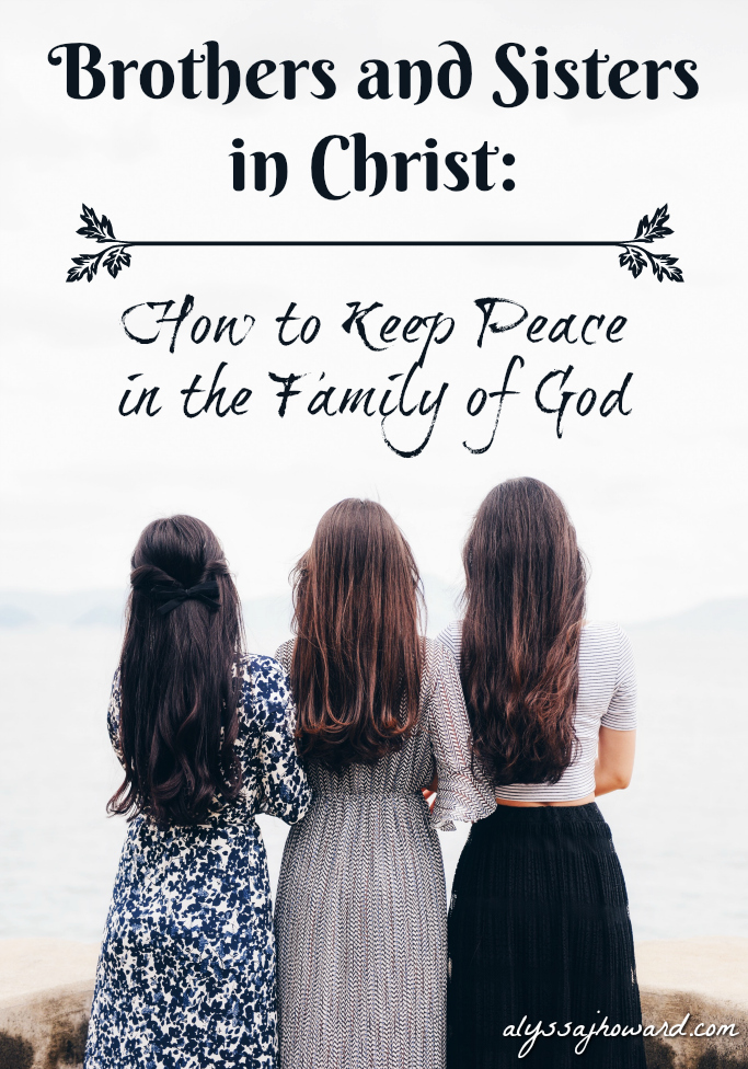 Brothers and Sisters in Christ: How to Keep Peace in the Family of God | alyssajhoward.com