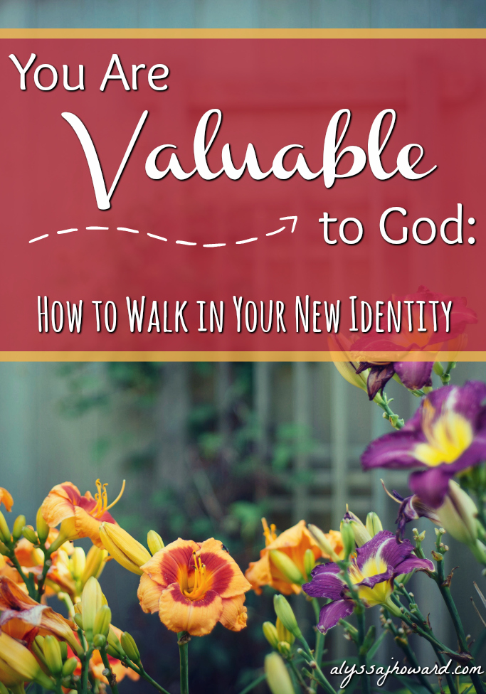 You Are Valuable to God: How to Walk in Your New Identity   alyssajhoward.com