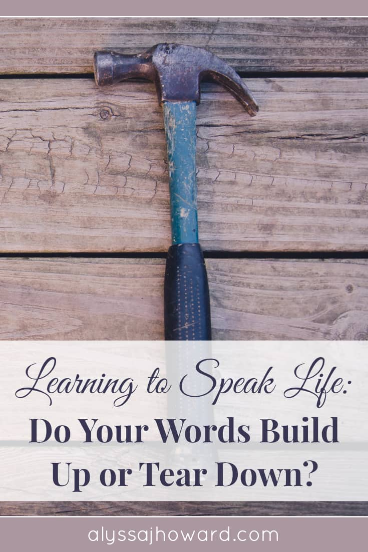 Learning to Speak Life: Do Your Words Build or Destroy? | alyssajhoward.com