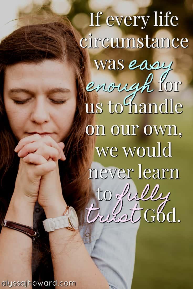 fully trusting god
