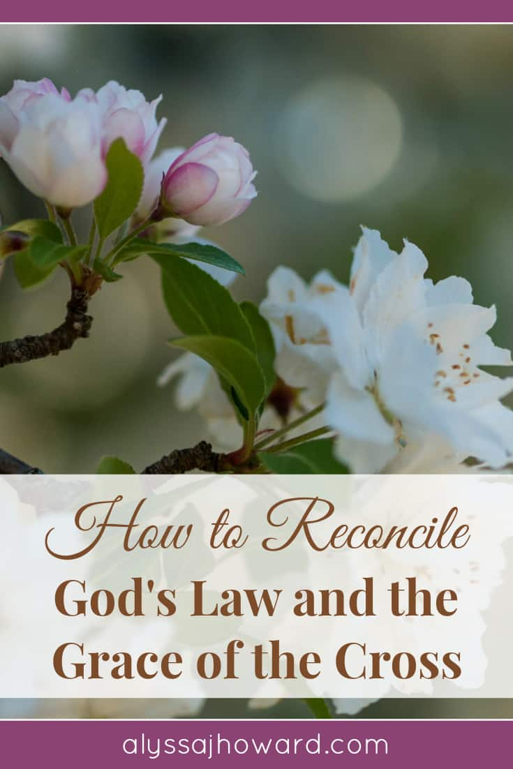How to Reconcile God's Law and the Grace of the Cross | alyssajhoward.com