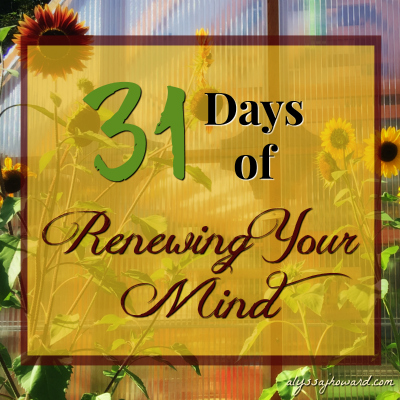 31 Days of Renewing Your Mind