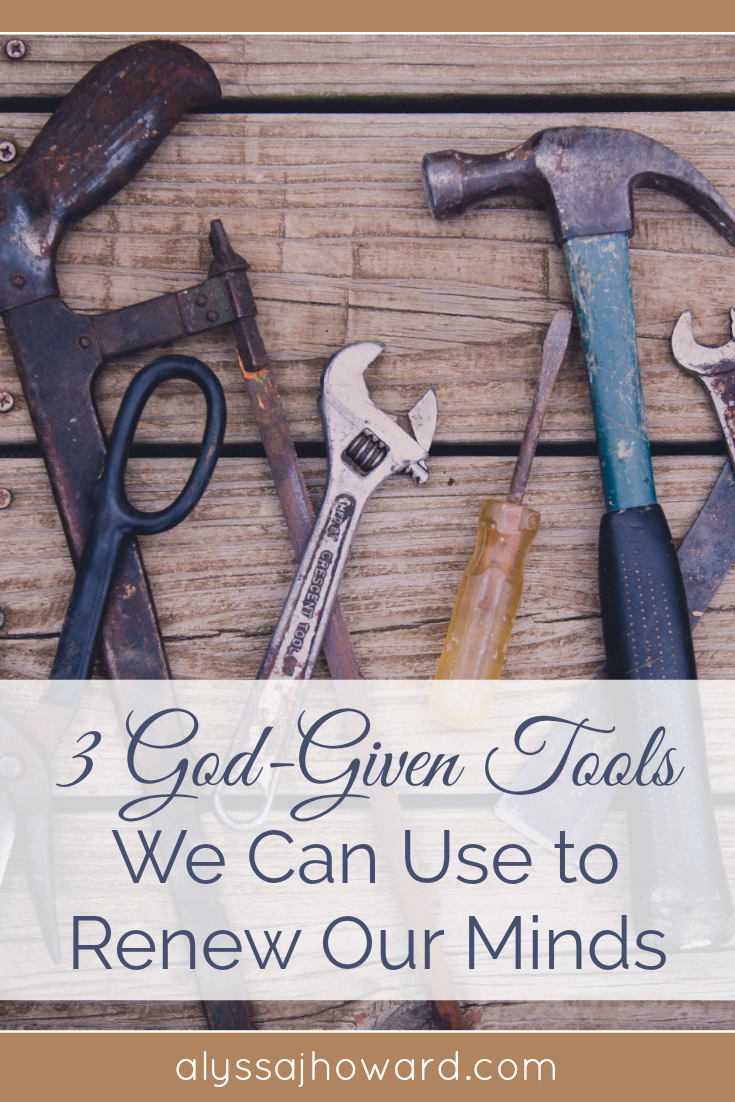 3 God-Given Tools We Can Use to Renew Our Minds | alyssajhoward.com