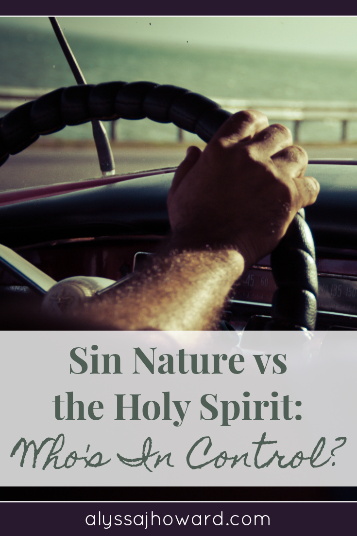 Sin Nature vs the Holy Spirit: Who's In Control? | alyssajhoward.com