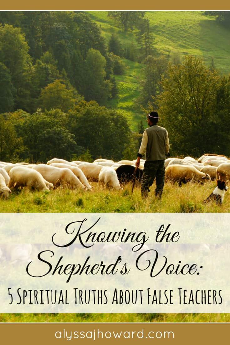 Knowing the Shepherd's Voice: 5 Spiritual Truths About False Teachers | alyssajhoward.com