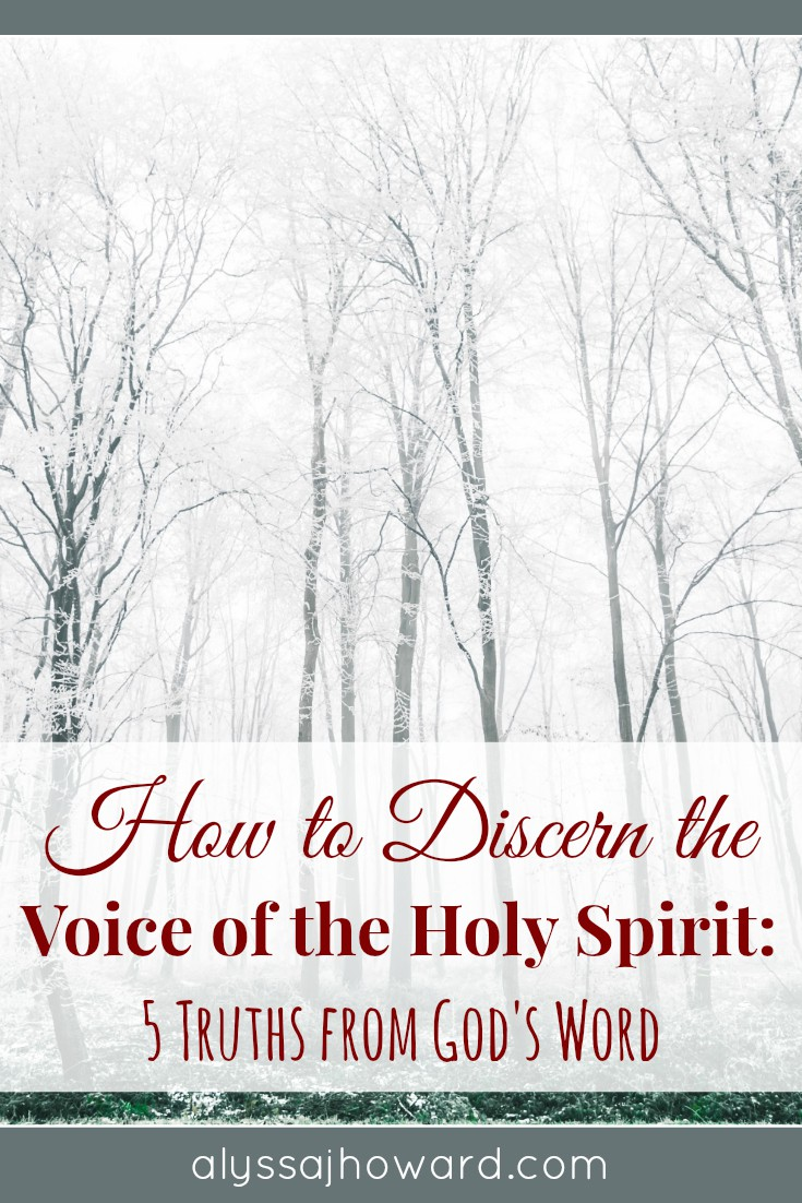 How to Discern the Voice of the Holy Spirit: 5 Truths from God's Word | alyssajhoward.com