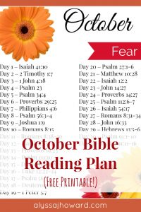 October Bible Reading Plan | alyssajhoward.com