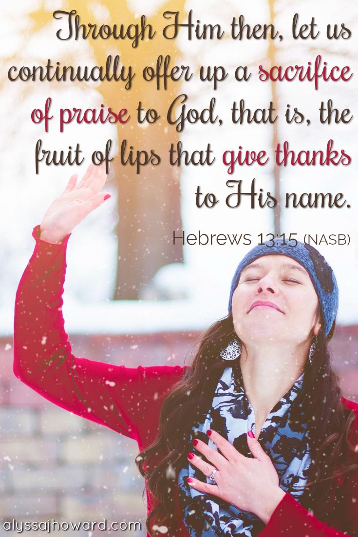 How to Put on the Garment of Praise When Your Spirit Is Weak | alyssajhoward.com
