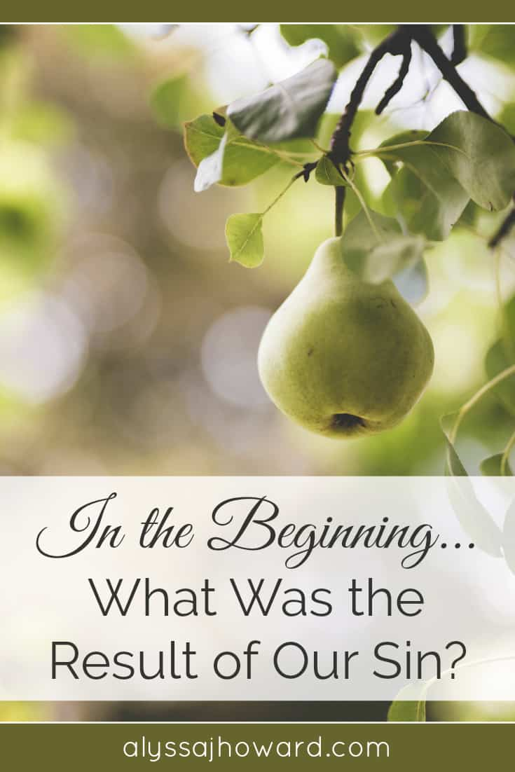 In the Beginning... What Was the Result of Our Sin? | alyssajhoward.com