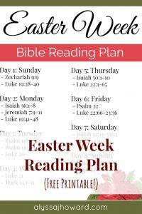 Easter Bible Reading Plan | alyssajhoward.com