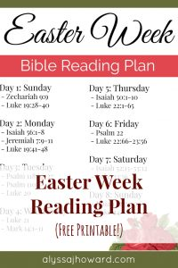 Easter Bible Reading Plan | alyssajhoward.com