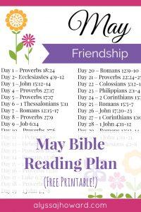 May Bible Reading Plan   alyssajhoward.com