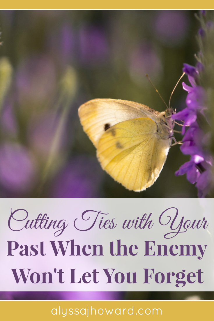 Cutting Ties with Your Past When the Enemy Won't Let You Forget | alyssajhoward.com