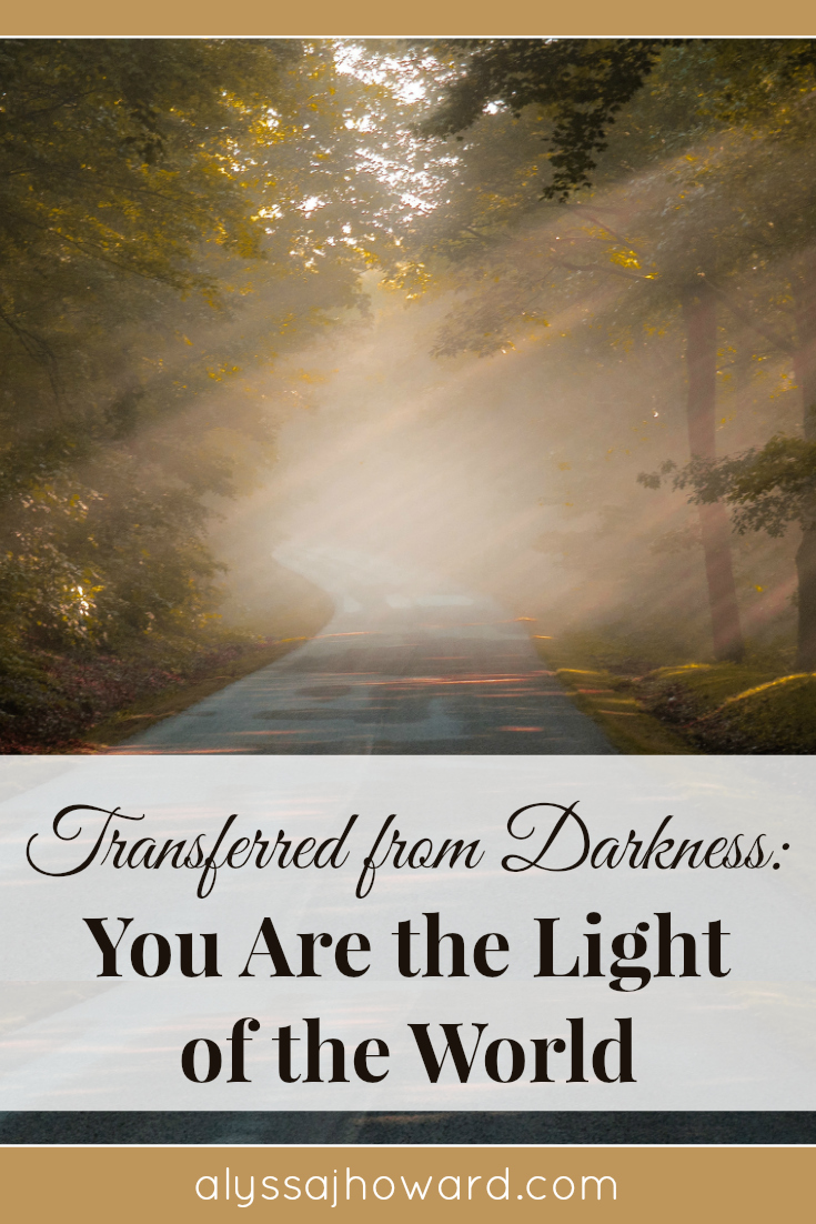 Transferred from Darkness: You Are the Light of the World | alyssajhoward.com